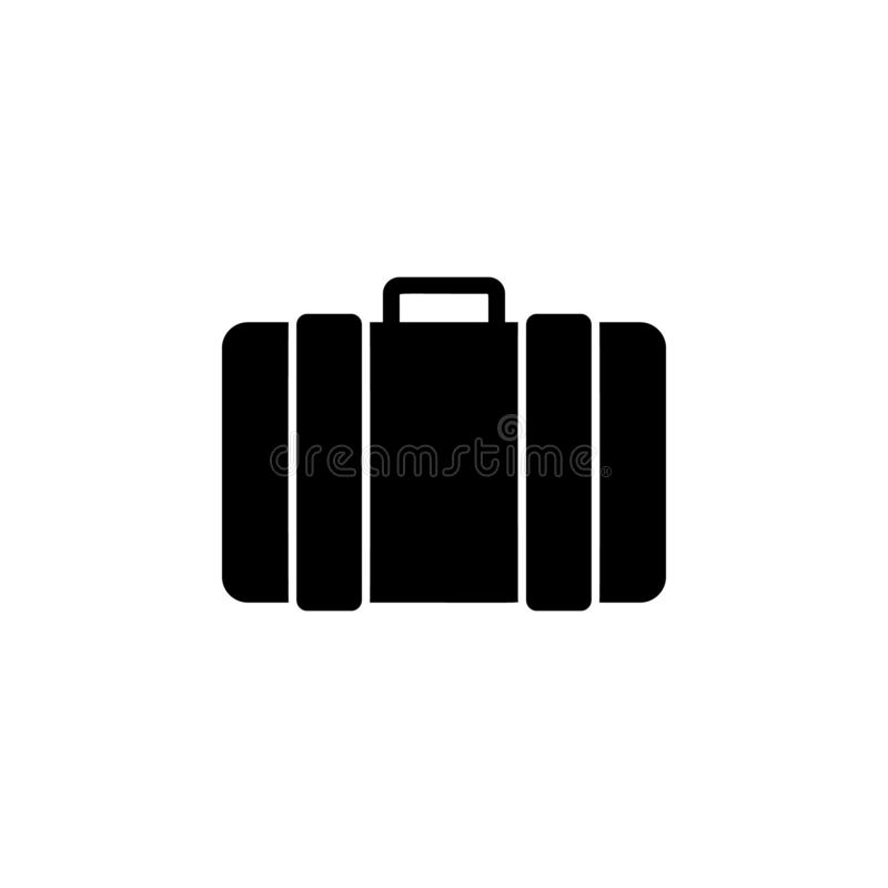 Luggage icon. Simple glyph vector of universal set icons for UI and UX, website or mobile application. On white background royalty free illustration