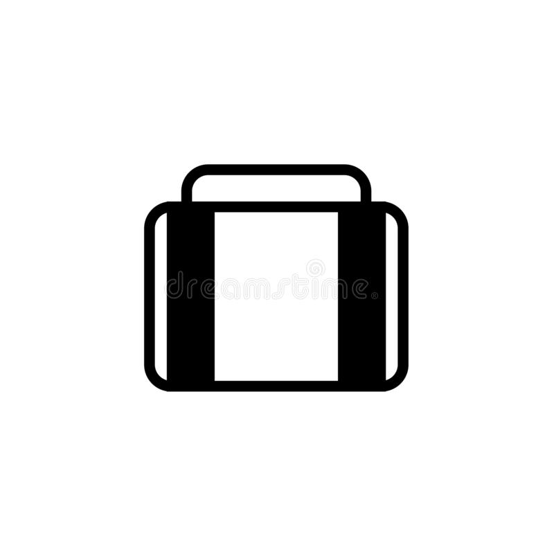 Luggage icon Vector illustration, EPS10. royalty free stock images