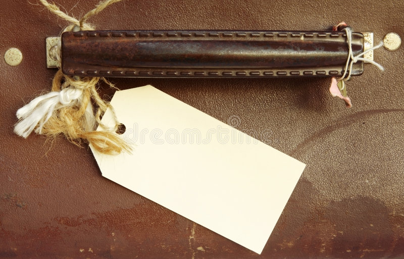 Download Luggage Label stock photo. Image of textured, battered - 3761442