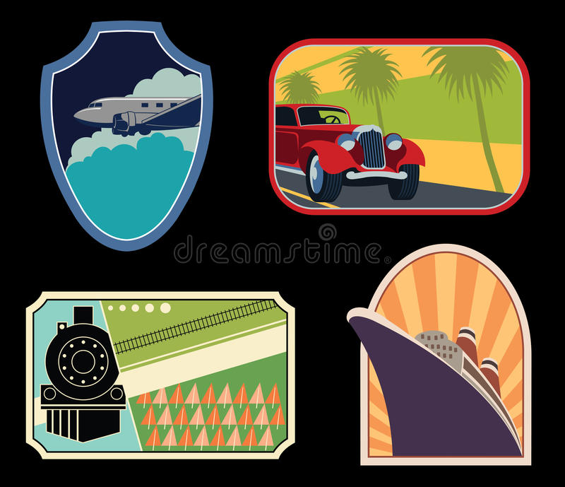 Download Luggage Labels stock vector. Image of boat, travel, ship - 28704724