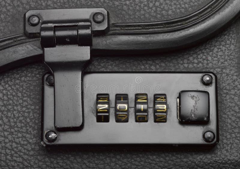 Luggage lock security code royalty free stock photo