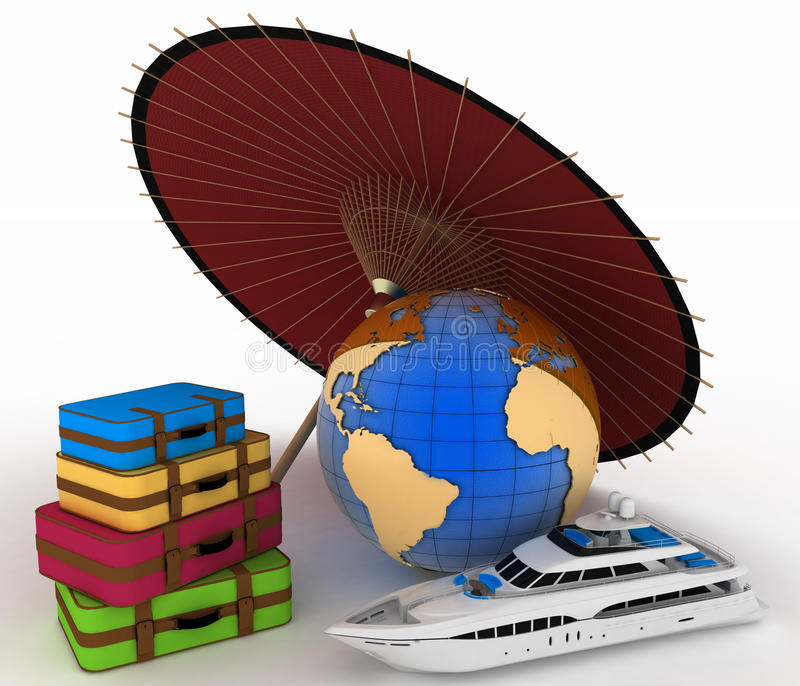 Download Luggage For A Round-world Voyage Stock Illustration - Image: 33812143
