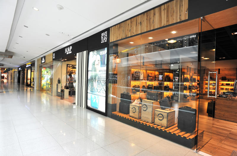 Luggage shop. Bag shop at maoye shopping mall,shenzhen,china pic on september,21,2011 royalty free stock images