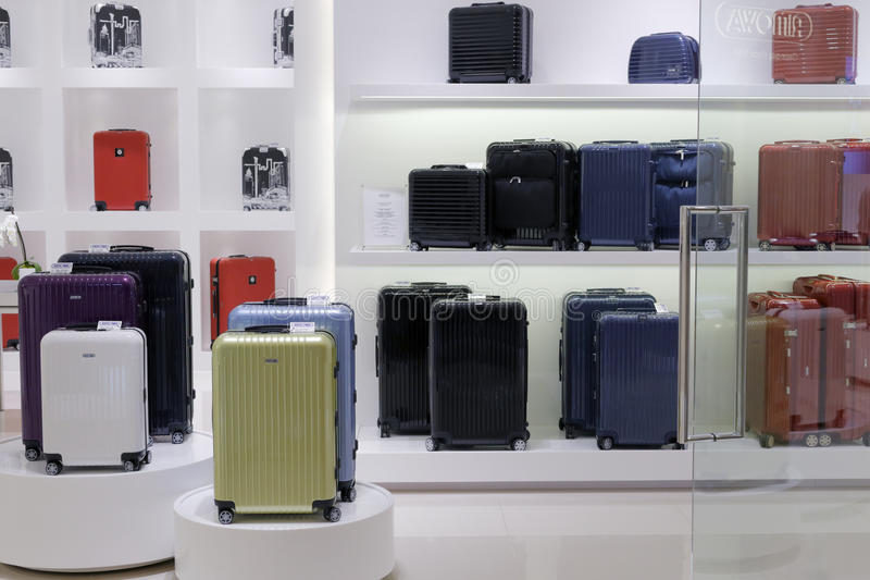 Luggage shop. Luggage store in taipei city, taiwan royalty free stock photography