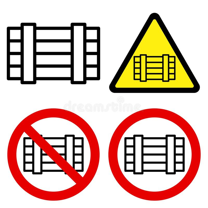Download Luggage Signs stock vector. Image of illegal, goods, alert - 12519343