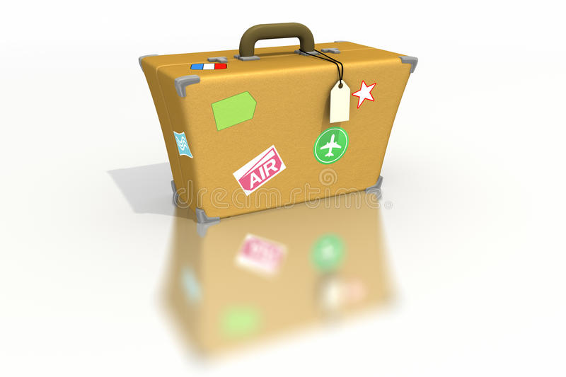 Download Luggage With Stickers And Tags Stock Illustration - Illustration of trip, tourist: 9933310