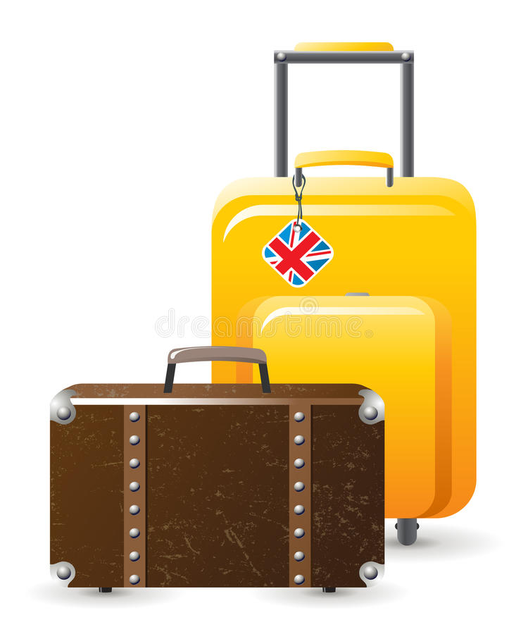 Luggage. Travellor's luggage over white background vector illustration
