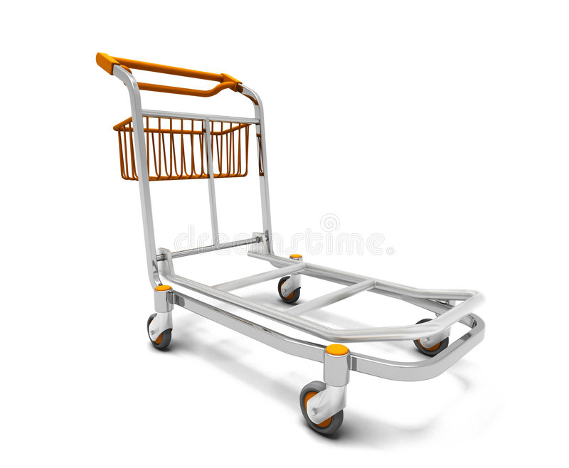 Download Luggage trolley stock illustration. Image of case, luggage - 4084692