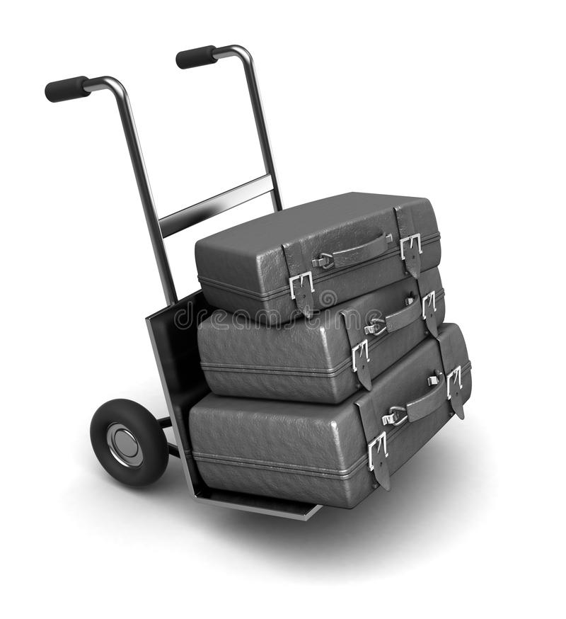 Download Luggage on truck stock illustration. Image of handsome - 23566850