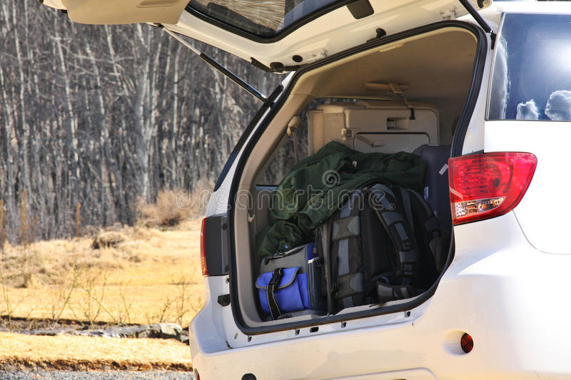Download Luggage in trunk of car stock photo. Image of trunk, prepare - 16290708