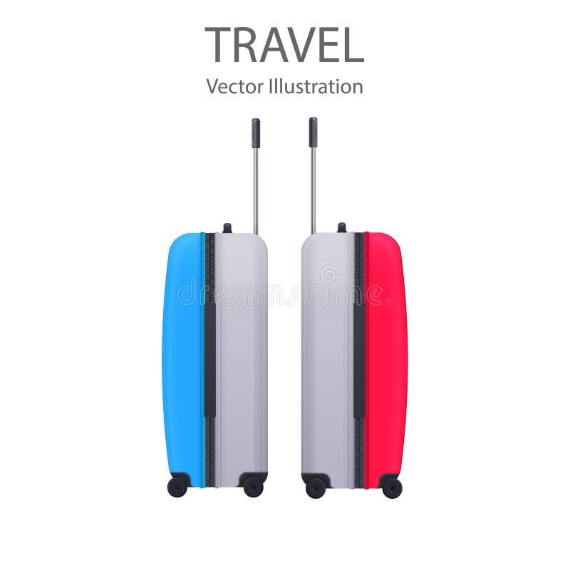 lugier Realistyczne podróży torby bagaż wektor ilustracja wektor