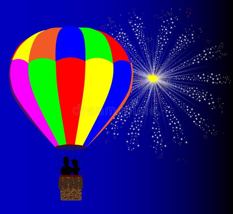 4 luglio mongolfiera illustrazione vettoriale