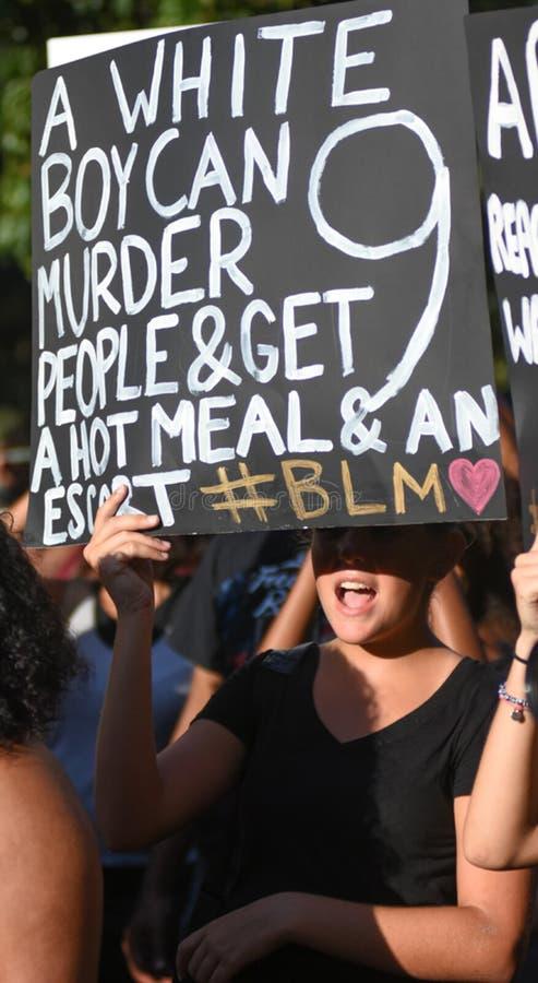 13 luglio 2016, protesta nera della materia di vite, Charleston, Sc fotografia stock