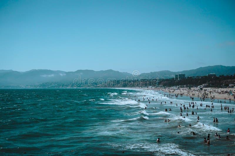 Luglio 2018 - Santa Monica, Los Angeles fotografia stock libera da diritti