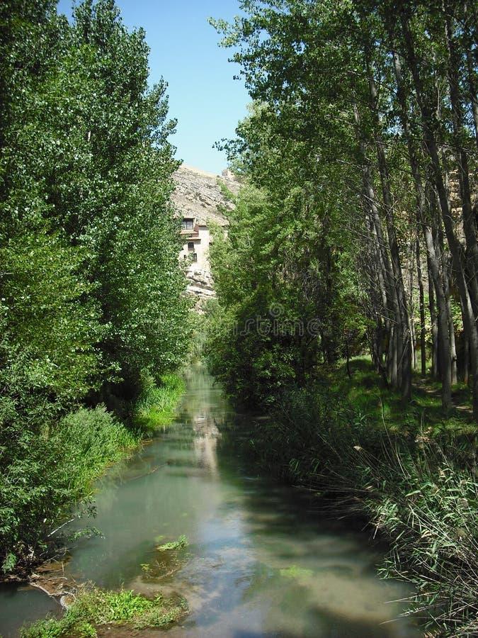 Lugna floden royaltyfria foton