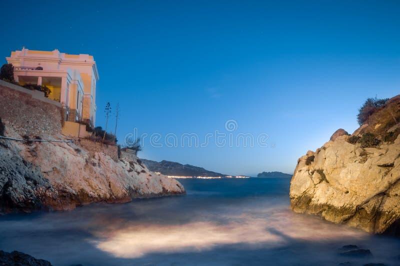 Lugna Marseille för uppehälle söder av Frankrike fotografering för bildbyråer