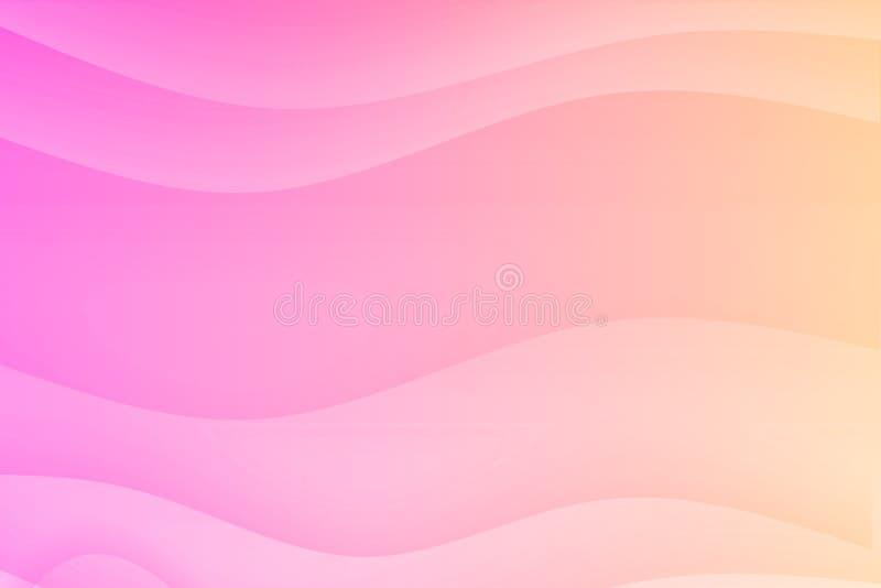 lugna rosa lugna för kurvor stock illustrationer