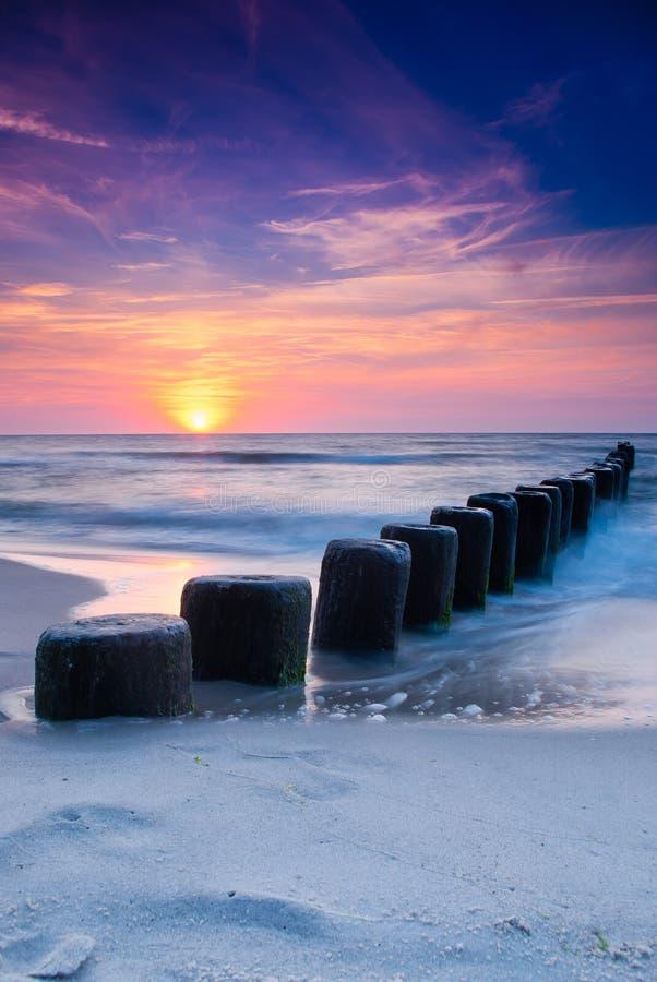lugna solnedgång arkivbild