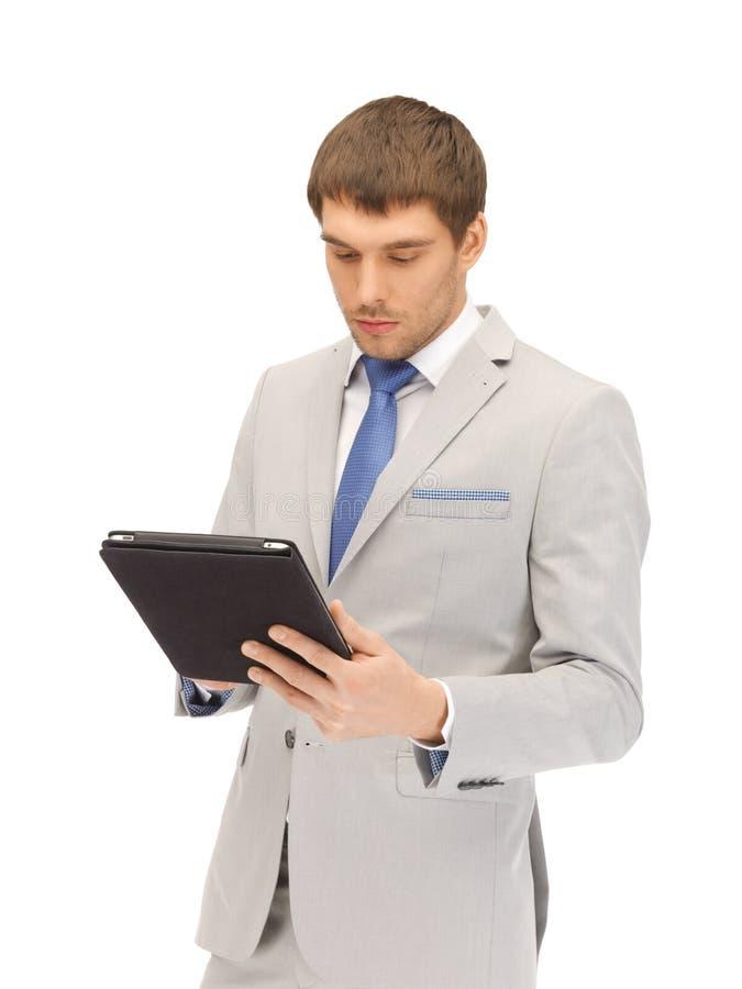 lugna tablet för PC för datorman royaltyfria bilder