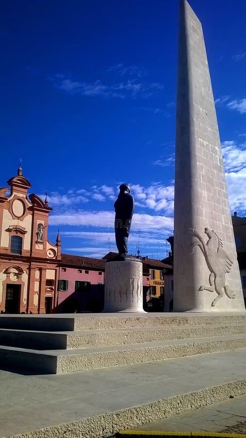 Lugo Francesco Baracca zabytek fotografia stock