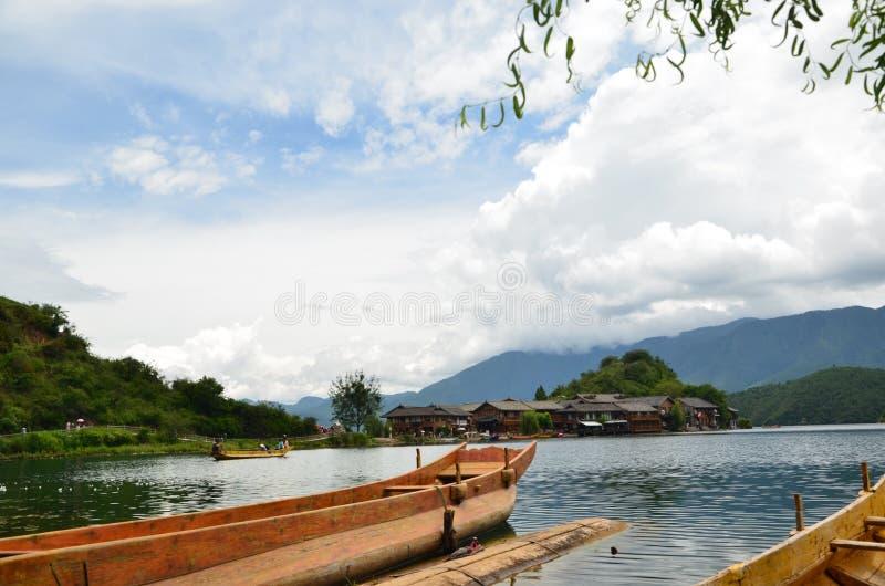 Lugu湖 免版税库存图片