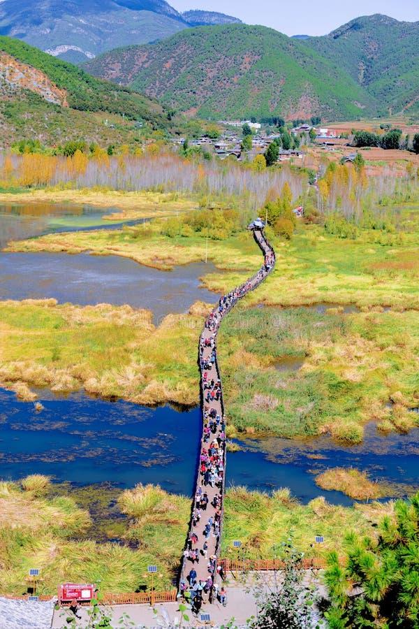 Lugu jeziora widok zdjęcie royalty free