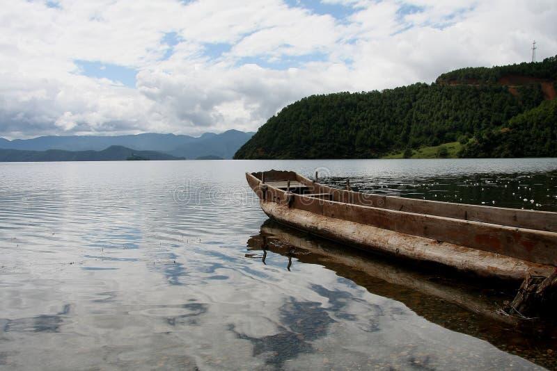 Lugu jezioro, Lijiang, Yunnan, Chiny zdjęcia stock