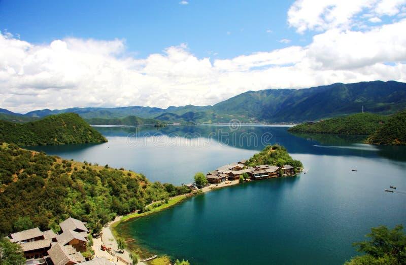 Lugu jezioro perła plateau obrazy royalty free
