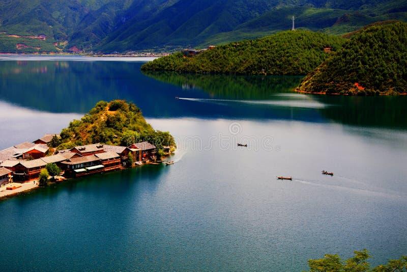 Lugu jezioro perła plateau obraz stock