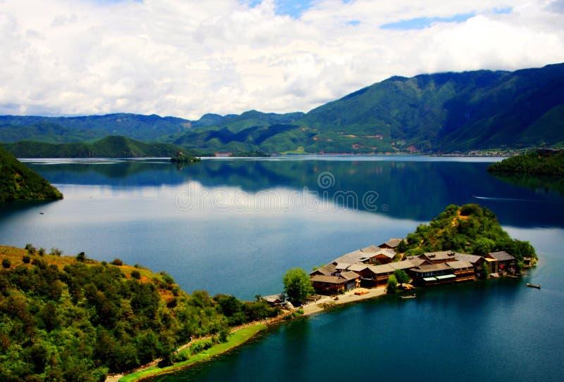 Lugu jezioro perła plateau fotografia royalty free