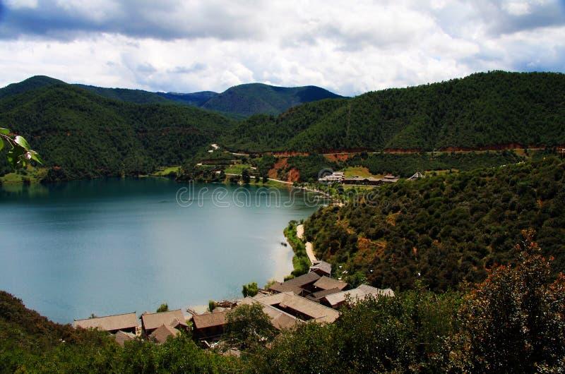 Lugu jezioro perła plateau obrazy stock