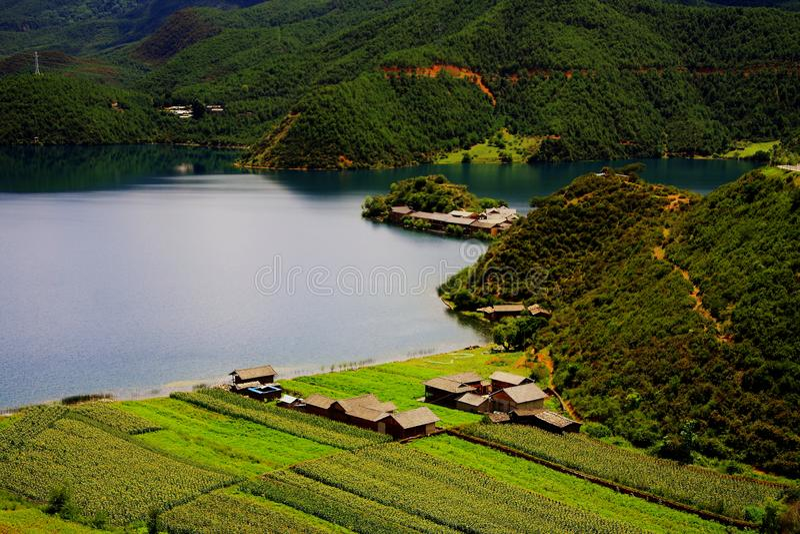 Lugu jezioro perła plateau obraz royalty free