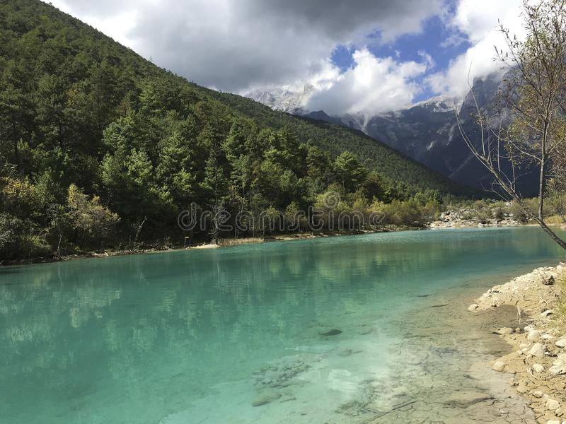 Lugu Lake royalty free stock images