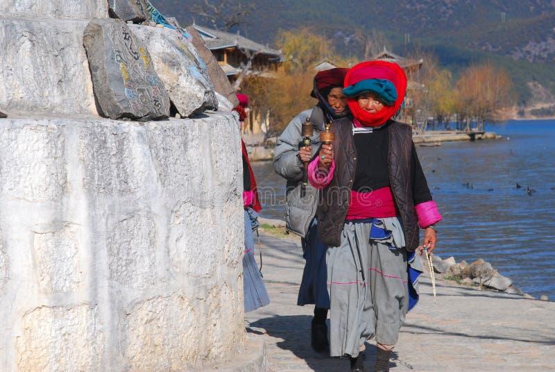 Lugu Lake in southwest China royalty free stock photo