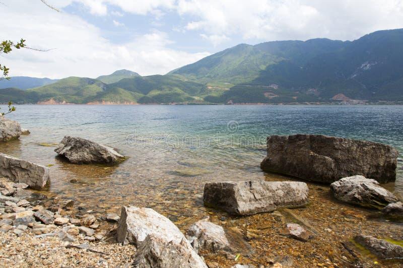 Lugu See In Yunnan, China Stockfotos