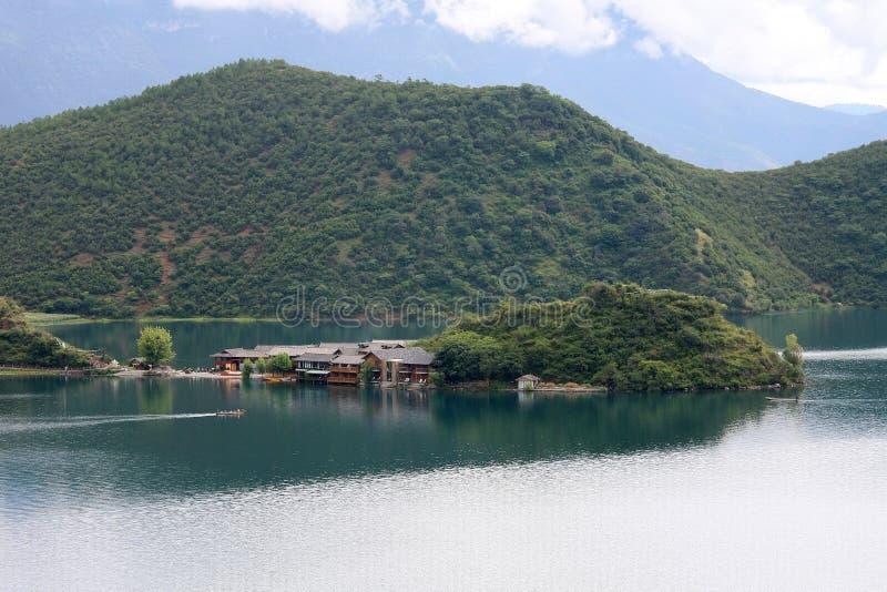 Lugumeer, Lijiang, Yunnan, China stock afbeeldingen