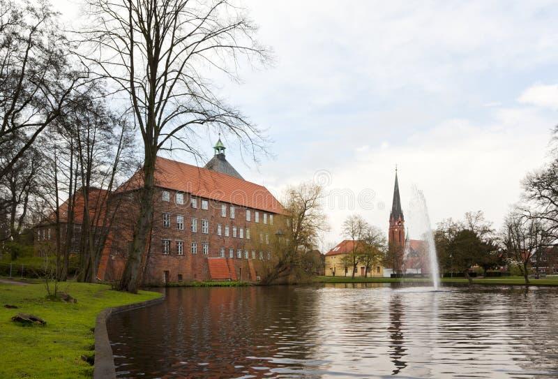 luhe Саксония замока более низкое winsen стоковые изображения rf