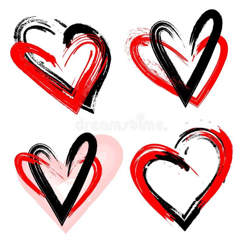 Lui et elle aiment dedans la passion Épisodes d'amour Illustration de vecteur illustration stock