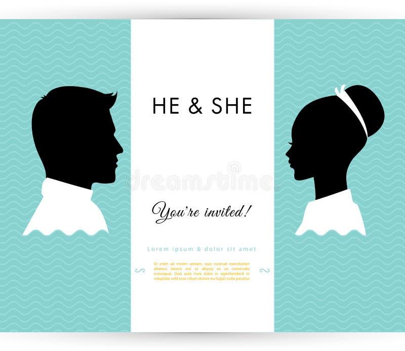 Lui & lei royalty illustrazione gratis
