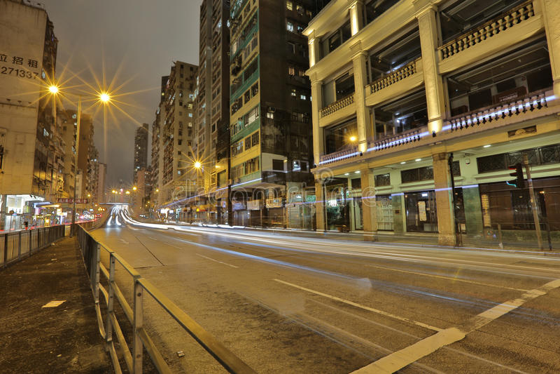 Lui Seng Chun, old buildings in Hong Kong. Lui Seng Chun, the grade I historic old buildings in Hong Kong stock photo