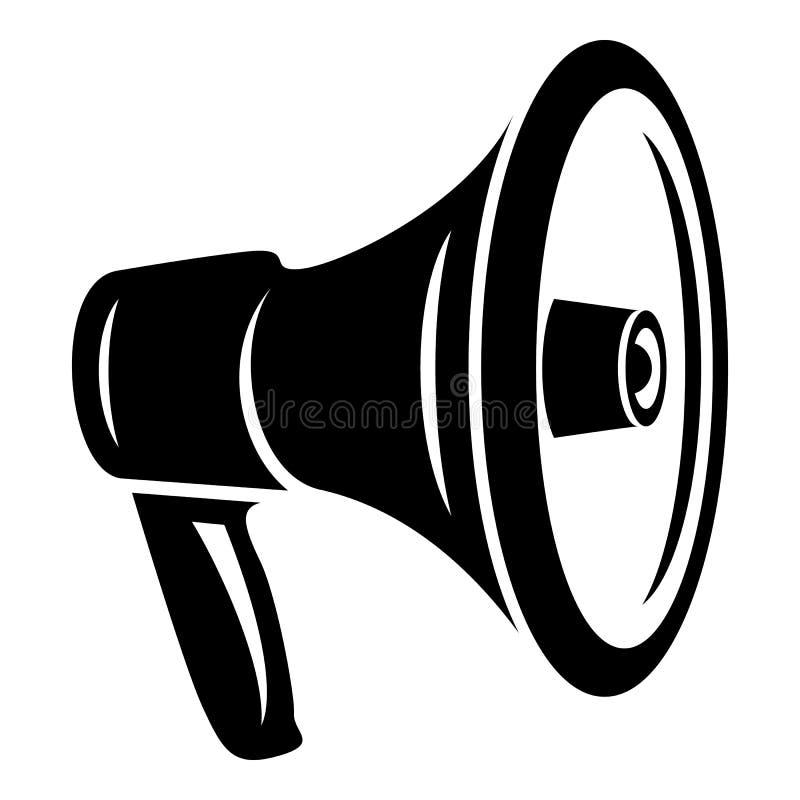 Luid megafoonpictogram, eenvoudige stijl vector illustratie