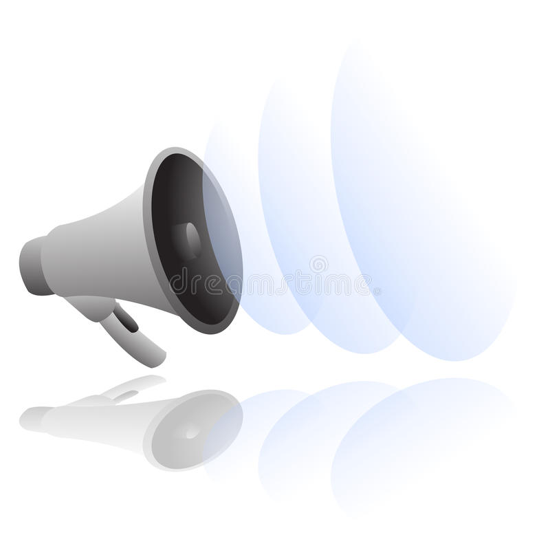 Luide megafoonvector vector illustratie