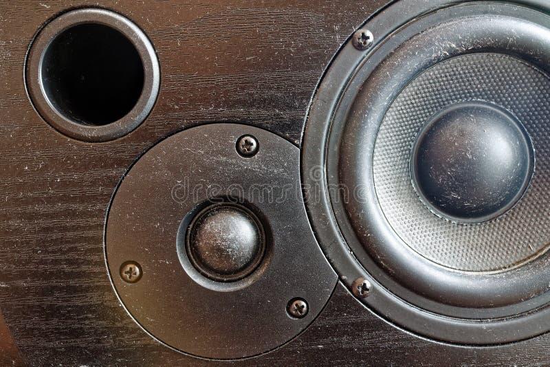 Luidspreker of audiospreker bij opnamestudio royalty-vrije stock foto's