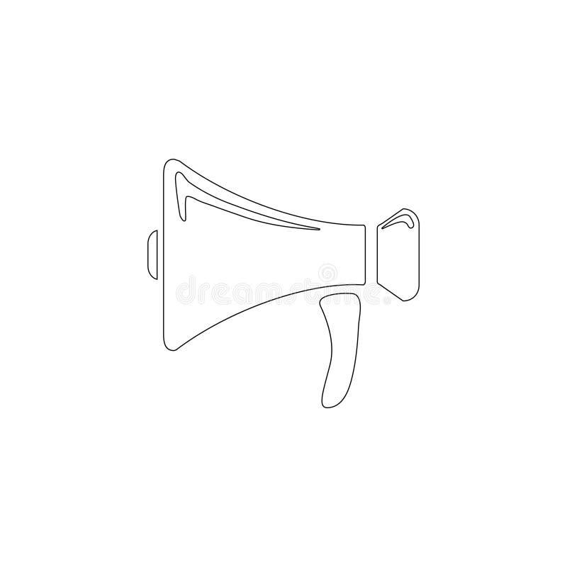 luidspreker Vlak vectorpictogram vector illustratie