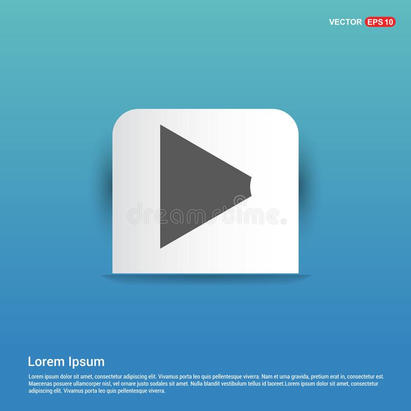 luidsprekerspictogram - Blauwe Stickerknoop royalty-vrije illustratie