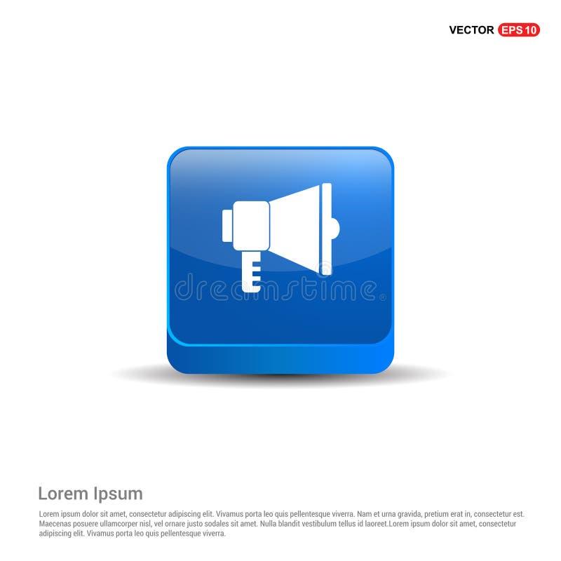 luidsprekerspictogram - 3d Blauwe Knoop royalty-vrije illustratie