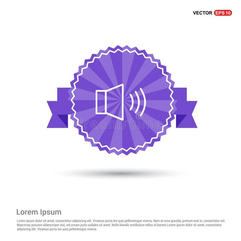 luidsprekerspictogram - Purpere Lintbanner vector illustratie