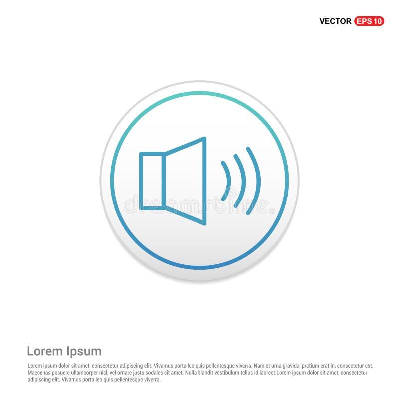 luidsprekerspictogram - witte cirkelknoop vector illustratie