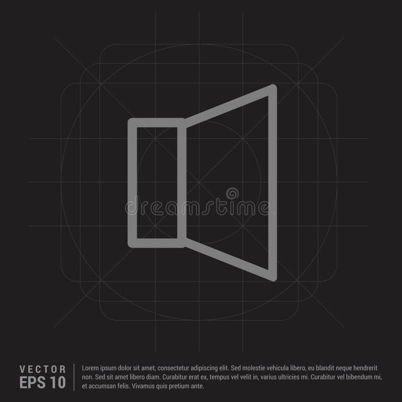 luidsprekerspictogram - Zwarte Creatieve Achtergrond vector illustratie
