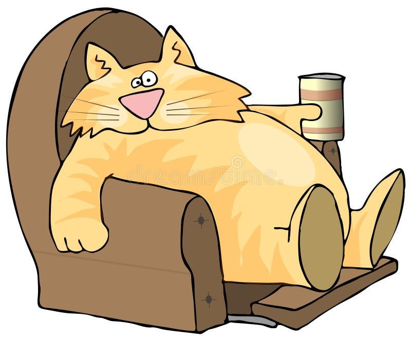 Luie Kat stock illustratie
